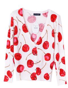 /women-v-neck-cotton-cherry-print-cardigan-p-457.html