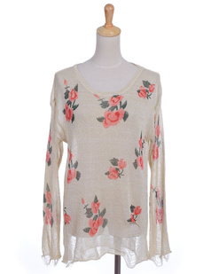 /beige-floral-print-distressed-frayed-knit-sweater-p-1084.html