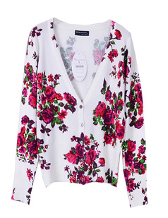 /women-v-neck-floral-print-cardigan-sweater-knitwear-p-772.html