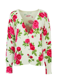 /ru/women-v-neck-rose-floral-print-cardigan-sweater-knitwear-p-848.html