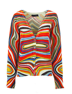 /ru/women-v-neck-rainbow-stripe-print-cardigan-sweater-knitwear-p-773.html
