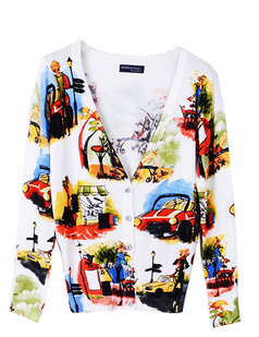 /v-neck-vingtage-manor-print-cardigan-sweater-knitwear-p-774.html