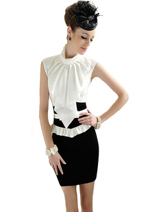 /lady-standup-big-bow-collar-sleeveless-blouse-tops-p-974.html