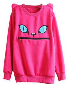 /women-zipper-mouth-smile-shoulder-3d-ear-monsters-devil-cat-flannel-jumper-tops-sweatshirt-p-419.html