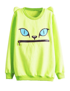 /women-zipper-mouth-smile-shoulder-3d-ear-monsters-devil-cat-flannel-jumper-tops-sweatshirt-p-428.html