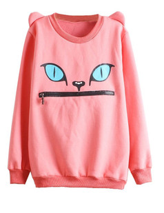 /women-zipper-mouth-smile-shoulder-3d-ear-monsters-devil-cat-flannel-jumper-tops-sweatshirt-p-432.html