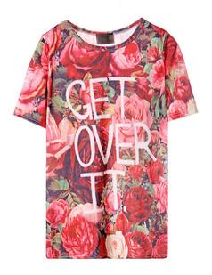 /women-rose-printed-short-sleeve-velvet-tshirt-p-1540.html