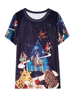 /women-galaxy-zebra-printed-short-sleeve-velvet-tshirt-p-1541.html