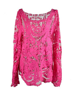 /pink-semi-embroidery-floral-lace-top-crochet-blouse-shirt-p-1688.html