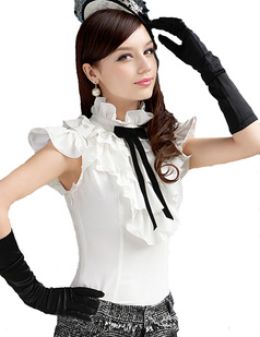 /standup-collar-multilayers-flouncing-black-bow-white-shirts-tops-p-968.html