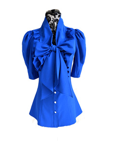 /ruffle-big-bow-collar-puff-sleeves-blouse-tops-shirts-p-989.html