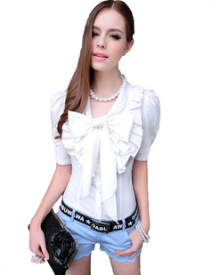 /ruffle-big-bow-collar-puff-sleeves-blouse-tops-shirts-p-991.html