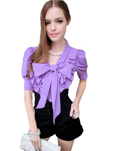 /ruffle-big-bow-collar-puff-sleeves-blouse-tops-shirts-p-994.html