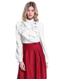 /standup-collar-office-irregular-ruffle-multilayers-blouse-white-p-6966.html