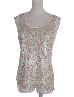 /sequin-seashell-pattern-embellished-sleeveless-top-p-1870.html