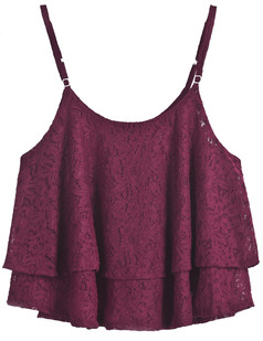 /burgundy-flowy-lace-overlay-adjustable-strap-crop-top-p-1545.html