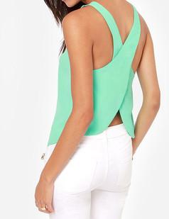 /backless-criss-cross-chiffon-tank-blouses-green-p-2530.html