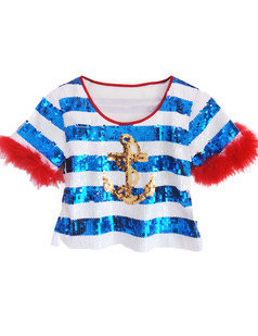 /feather-sleeve-stripes-cheerleader-crop-top-red-p-3272.html