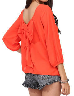 /bowknot-tie-backless-blouse-top-yellow-red-p-2602.html