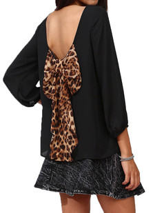 /bowknot-tie-backless-blouse-top-yellow-black-p-2626.html