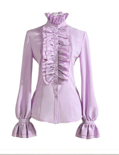/standup-collar-lotus-leaf-ruffle-shirt-shirts-tops-blouse-p-918.html