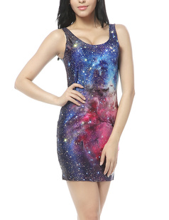 /women-galaxy-star-universe-space-slimming-bodycon-stretch-vest-short-dress-pencil-dress-p-363.html