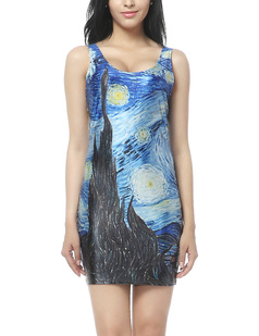 /van-gogh-starry-night-oil-painting-print-slimming-bodycon-stretch-vest-short-dress-pencil-dress-p-366.html