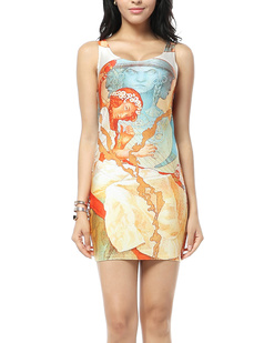 /sculpture-girl-oil-painting-print-slimming-bodycon-stretch-vest-short-dress-pencil-dress-p-325.html