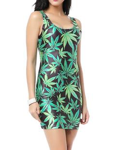 /weed-maple-leaf-print-sleeveless-dress-p-746.html