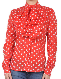 /women-ruffle-polka-dot-print-chiffon-top-shirt-blouse-p-729.html