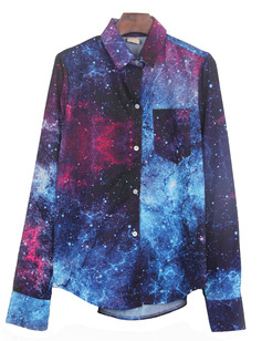 /galaxy-print-curved-hem-shirt-blouse-p-758.html