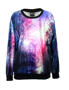 /women-forest-trees-in-morning-sunhine-painting-print-long-sleeve-loose-lycra-cotton-blouse-jumper-pullover-tops-p-344.html