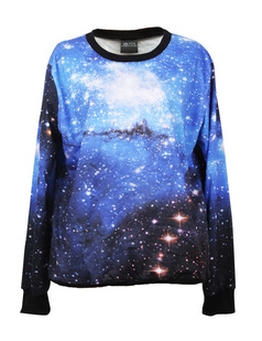 /women-dazzling-starry-blue-galaxy-space-print-long-sleeve-loose-lycra-cotton-blouse-jumper-pullover-tops-p-357.html