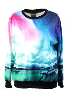 /oversized-sunshine-sea-beach-print-sweatshirt-pullover-p-821.html
