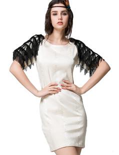 /tassel-shoulders-snake-short-sleeves-dress-p-1383.html